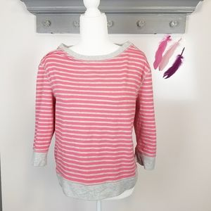 Size Large | LOFT Striped Crew Ceck Sweatshirt